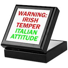 WARNINGIRISHTEMPER ITALIAN ATTITUDE.psd Keepsake B