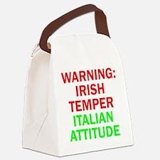 WARNINGIRISHTEMPER ITALIAN ATTITUDE.psd Canvas Lun