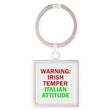 WARNINGIRISHTEMPER ITALIAN ATTITUDE.psd Square Key