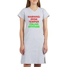 WARNINGIRISHTEMPER ITALIAN ATTITUDE.psd Women's Ni