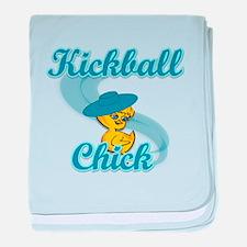 Kickball Chick #3 baby blanket