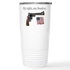 Second amendment my right my freedom Travel Mug