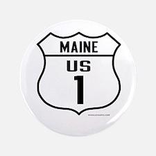 "US Route 1 - Maine - 3.5"" Button"