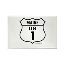 US Route 1 - Maine - Rectangle Magnet