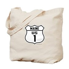 US Route 1 - Maine - Tote Bag