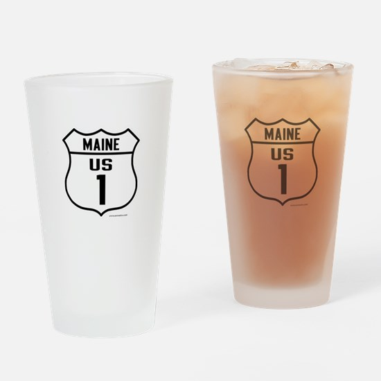 US Route 1 - Maine - Drinking Glass