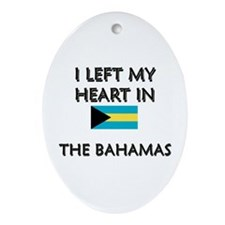 I Left My Heart In The Bahamas Oval Ornament