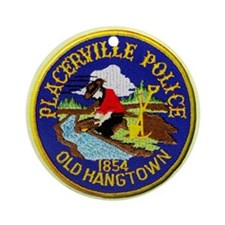 Placerville Police Ornament (Round)
