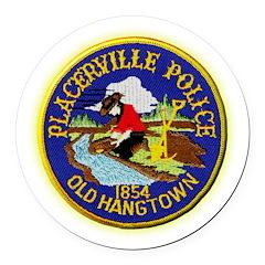 Placerville Police Round Car Magnet