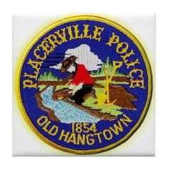 Placerville Police Tile Coaster