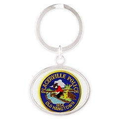 Placerville Police Oval Keychain