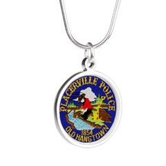 Placerville Police Silver Round Necklace