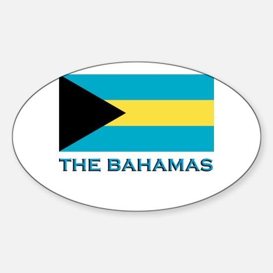 The Bahamas Flag Gear Oval Decal