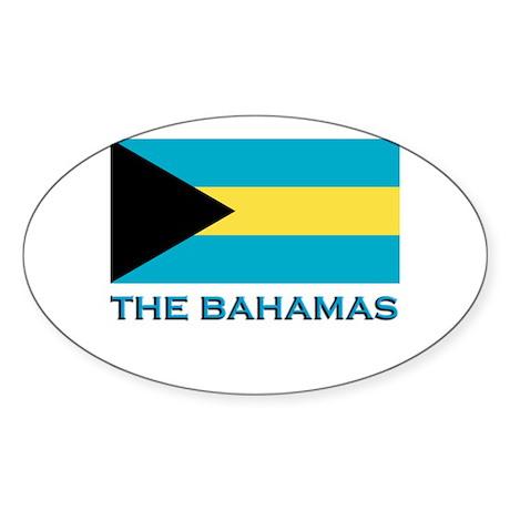 The Bahamas Flag Gear Oval Sticker