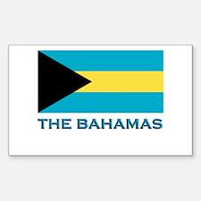 The Bahamas Flag Gear Rectangle Decal