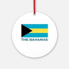 The Bahamas Flag Gear Ornament (Round)