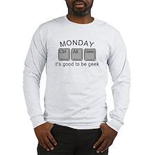 Monday Geek Computer Keys Long Sleeve T-Shirt