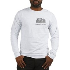 Monday Geek Computer Keys Long Sleeve T-Shirt