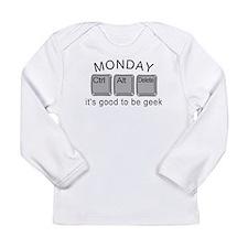 Monday Geek Computer Keys Long Sleeve Infant T-Shi