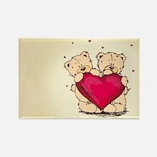 teddybear love Rectangle Magnet