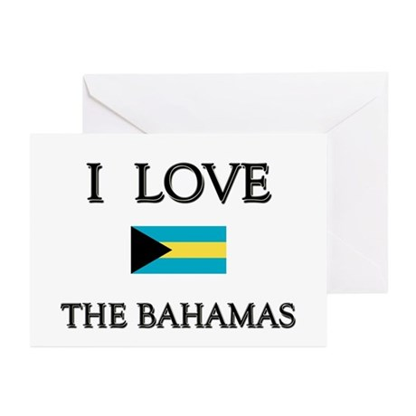 I Love The Bahamas Greeting Cards (Pk of 10)