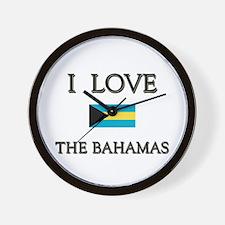 I Love The Bahamas Wall Clock