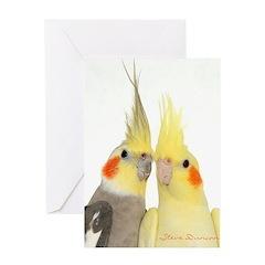 Cockatiel 2 Steve Duncan Greeting Card