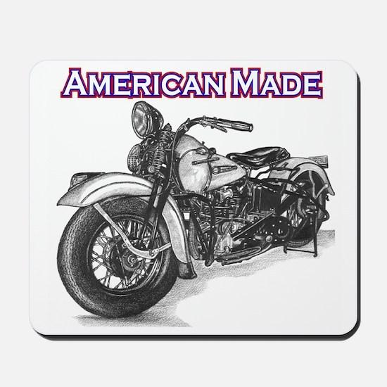 Harley Davidson Knucklehead 1947 left Mousepad