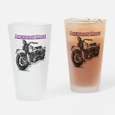 Harley Davidson Knucklehead 1947 left Drinking Gla