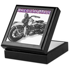 Harley Davidson Knucklehead 1947 left Keepsake Box