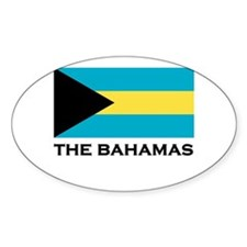 The Bahamas Flag Merchandise Oval Decal