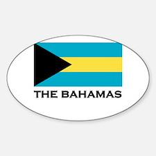 The Bahamas Flag Merchandise Oval Decal
