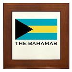 The Bahamas Flag Merchandise Framed Tile