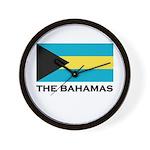 The Bahamas Flag Merchandise Wall Clock