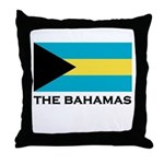 The Bahamas Flag Merchandise Throw Pillow