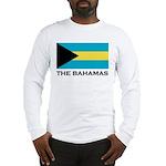 The Bahamas Flag Merchandise Long Sleeve T-Shirt