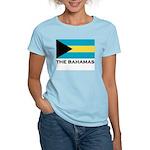 The Bahamas Flag Merchandise Women's Pink T-Shirt