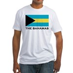 The Bahamas Flag Merchandise Fitted T-Shirt