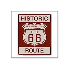 "San Bernardino Route 66 Square Sticker 3"" x 3"""