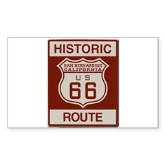 San Bernardino Route 66 Sticker (Rectangle 50 pk)
