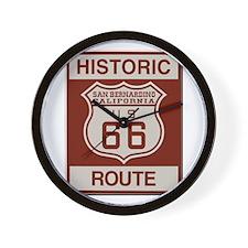 San Bernardino Route 66 Wall Clock