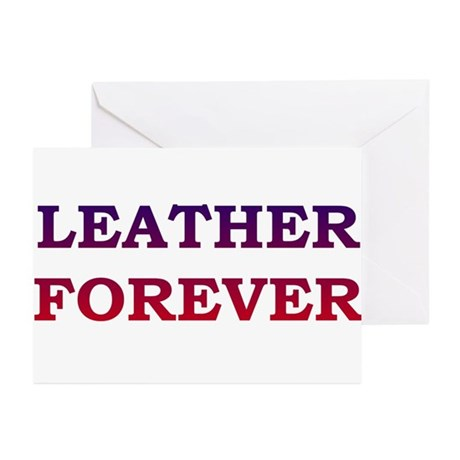 LEATHER FOREVER-blue to red/PAW GreetigCards(10PK