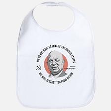 Khrushchev From Within Cotton Baby Bib