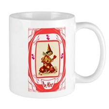 Harlequin with hearts Mug