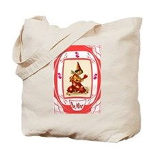 Harlequin with hearts Tote Bag