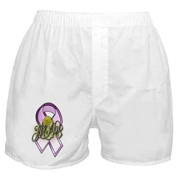 HOPE: Breast Cancer Awareness Boxer Shorts