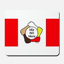 Idle No More - Five Hands - Canadian Flag Mousepad
