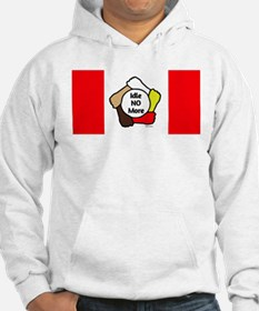 Idle No More - Five Hands - Canadian Flag Hoodie