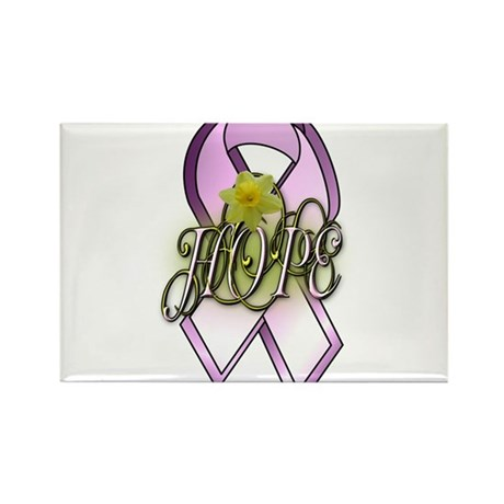 HOPE: Breast Cancer Awareness Rectangle Magnet