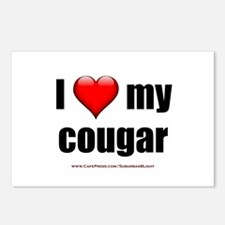"""I Love My Cougar"" Postcards (Package of 8)"
